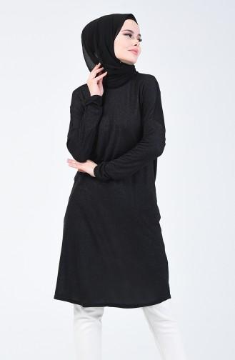Sim Çizgili Tunik 1224-02 Siyah