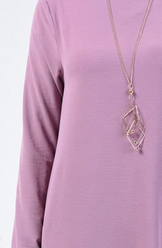 Plain Tunic with Necklace Magenta 0051-08