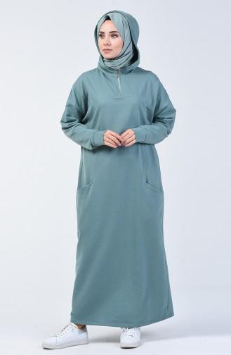 Kapüşonlu Spor Elbise 0817-02 Çağla Yeşili