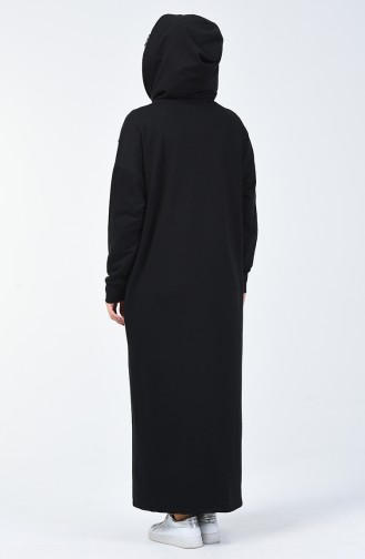 Kapüşonlu Spor Elbise 0817-04 Siyah