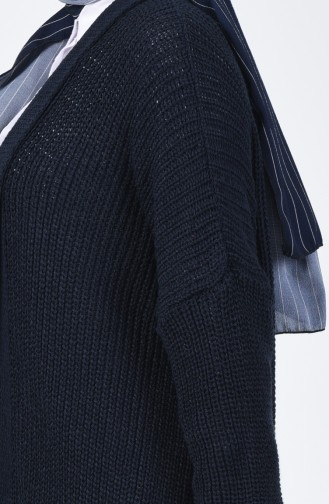 Tricot Cardigan Navy Blue 1944-01