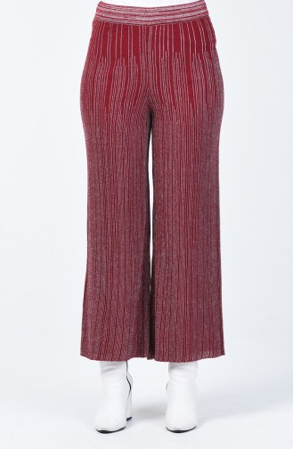 Pantalon Tricot Large à Paillettes 14293-05 Bordeaux 14293-05