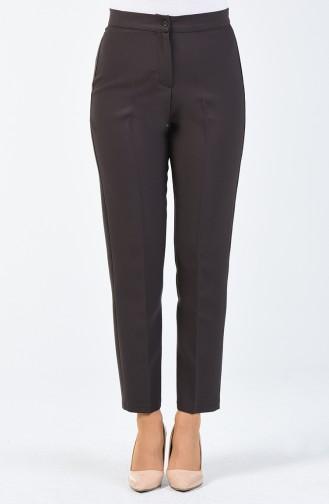 Pantalon a Boutons 1102-28 Brun Clair 1102-28