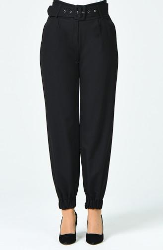 Pantalon à Ceinture 3146-02 Noir 3146-02