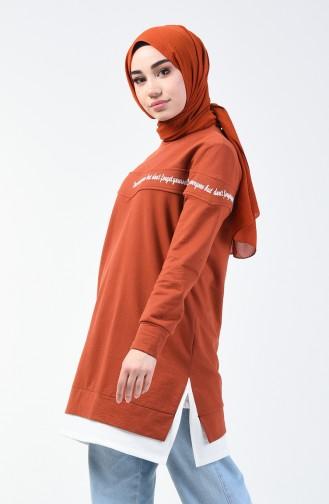 Sweatshirt 0818-01 Brique 0818-01