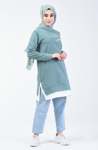 Sweatshirt 0818-04 Vert Noisette 0818-04