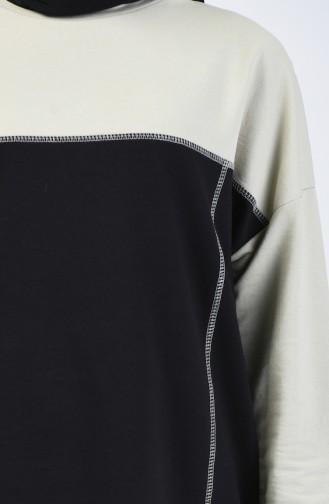 Ensemble Sport Tunique Pantalon Deux Pieces 0832-03 Vert Noir 0832-03