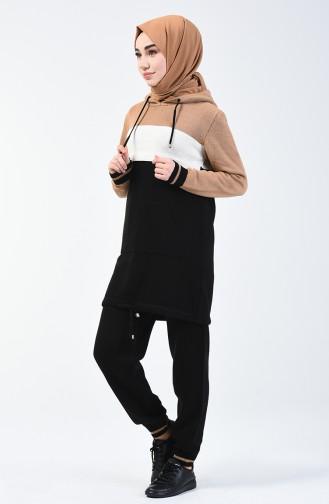 Trikot Pullover Hose Doppel Set  7107-01 Milschkaffee 7107-01