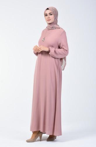 Robe avec Collier 0023-15 Poudre Foncé 0023-15