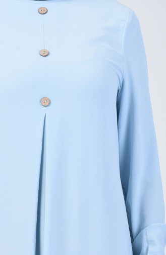 Robe Manche élastique Tissu Aerobin 0050-06 Bleu Bébé 0050-06
