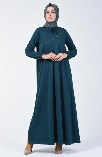 فستان بأكمام مطاط بترولي 1811-02