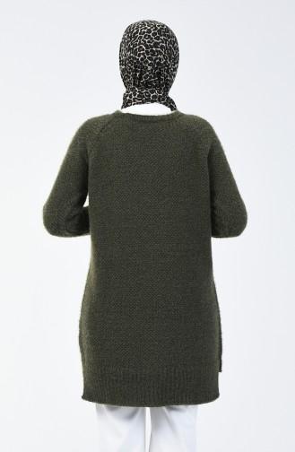 Tricot Tunic Khaki Green 4122-07