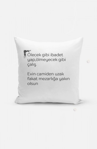 Lügat Yastık YA01-129 Beyaz
