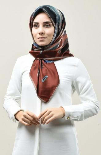 Karaca Desenli Rayon Eşarp 90673-03 Vizon Kiremit