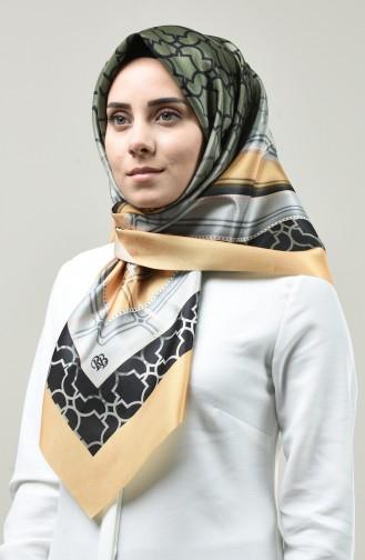 Dijital Baskılı Tafta Eşarp 95327-07 Sarı