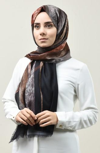 Châle Karaca Coton à Motifs 90667-10 Noir Brun 90667-10