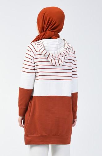 Sweatshirt Couleur brique 0828-03