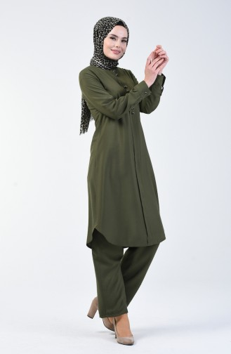 Tunic Trousers Double Set Khaki 1208-08