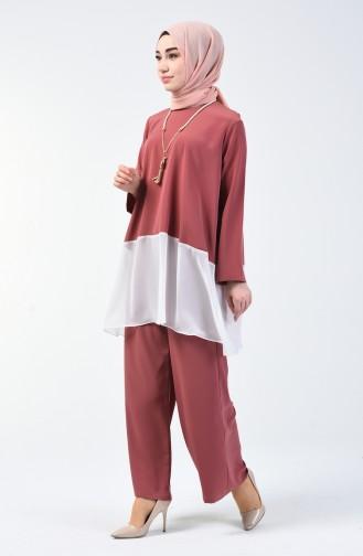 Beige-Rose Anzüge 1003-04