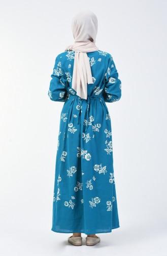 Robe à Motifs 0450-10 Pétrole 0450-10