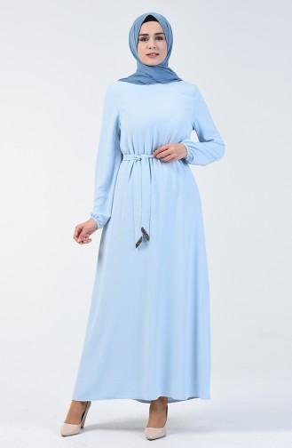 Babyblau Hijap Kleider 0048-07
