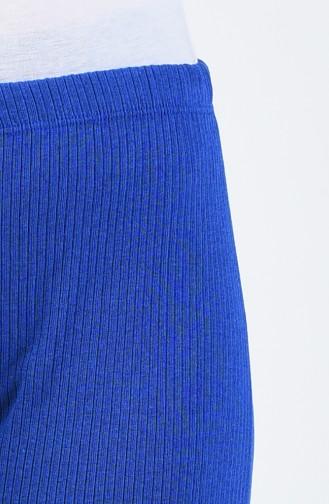 Pantalon Large Tricot 4492-19 Bleu Roi 4492-19
