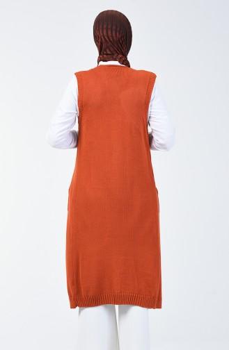 Tricot Pockets Vest Brick 2005-04
