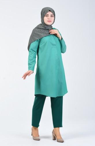 Smaragdgrün Hose 1110-26