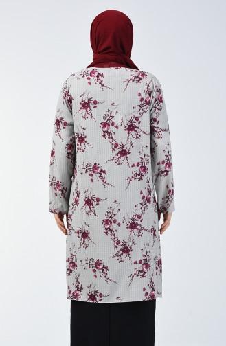 Büyük Beden Bluz Ceket İkili Takım 7866-01 Bordo