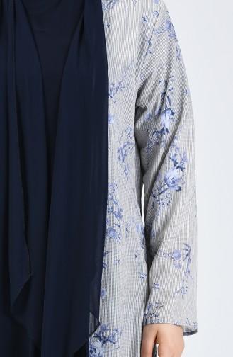 Büyük Beden Bluz Ceket İkili Takım 7866-05 Lacivert