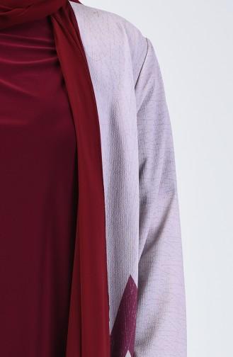 Büyük Beden Bluz Ceket İkili Takım 7866A-01 Bordo