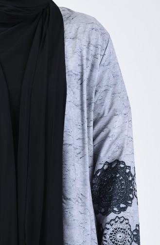 Büyük Beden Bluz Ceket İkili Takım 7866C-01 Siyah
