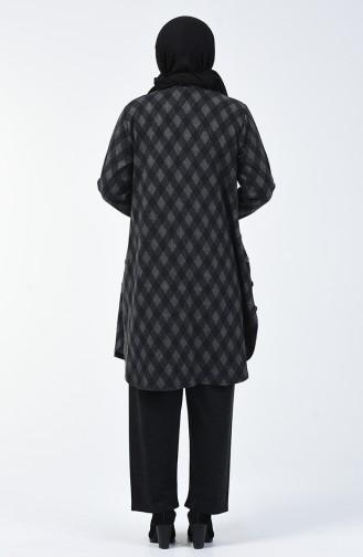 Büyük Beden Desenli Tunik Pantolon İkili Takım 2670B-05 Gri