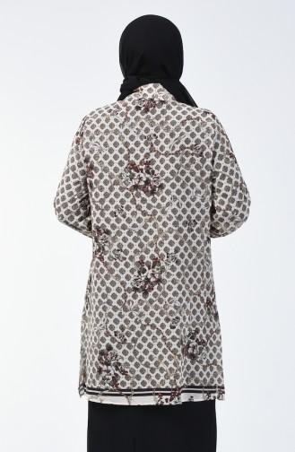 Büyük Beden Astarlı Gömlek Tunik 7940-01 Yeşil