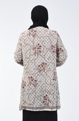 Büyük Beden Astarlı Gömlek Tunik 7940-03 Kiremit