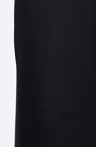 Garnili Fermuarlı Kap 0531-01 Siyah