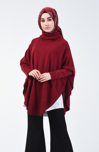 Claret red Poncho 1404-03