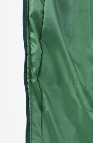 Gilet Sans Manche à Capuche  9072-07  Vert émeraude 9072-07
