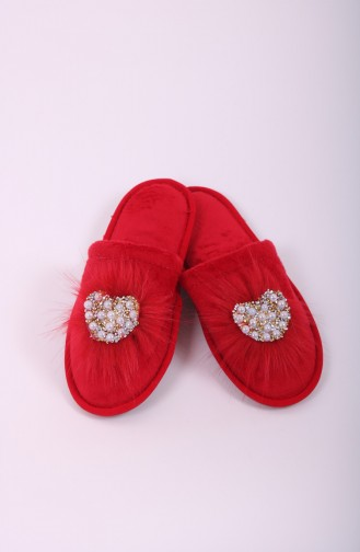 Red Woman home slippers 31-06