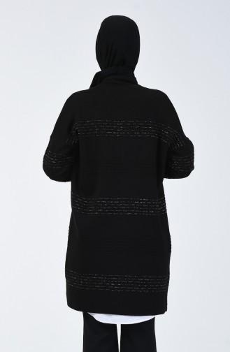 Triko Simli Hırka 4937-02 Siyah
