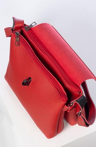 Bayan Çapraz Omuz Çantası 3017-06 Kırmızı