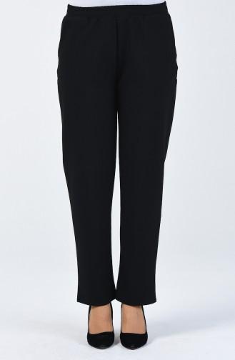 Pantalon Taille Élastique 1411PNT-01 Noir 1411PNT-01