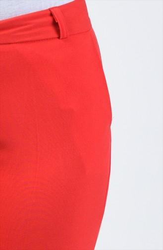 Cep Detaylı Klasik Pantolon 3109PNT-01 Kırmızı