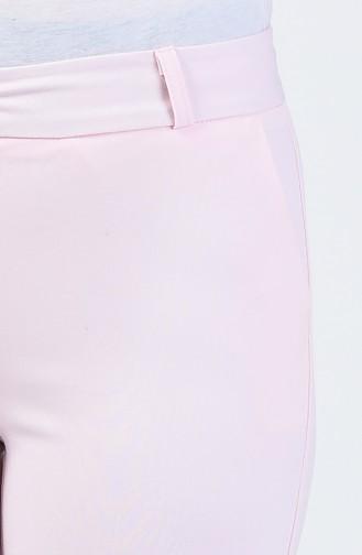 Cep Detaylı Klasik Pantolon 3109PNT-03 Pudra
