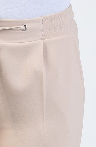 Cepli Düz Paça Pantolon 3152-03 Taş