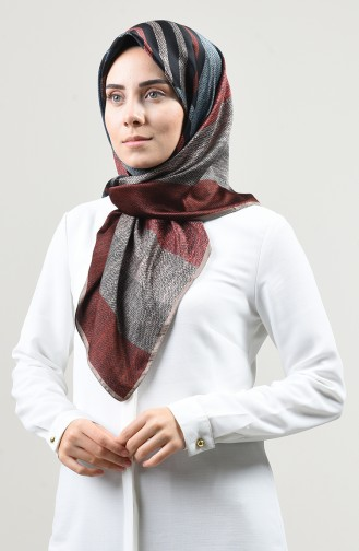 Karaca Echarpe Rayon à Motifs 90665-11 Vison Noir 90665-11