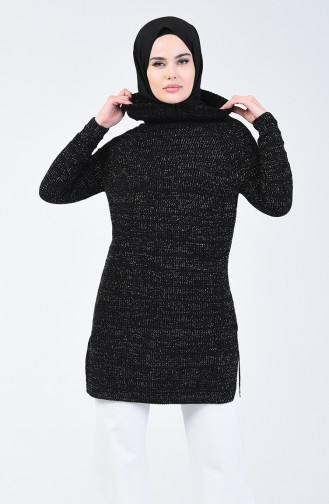 Triko Simli Kazak 5021-03 Siyah