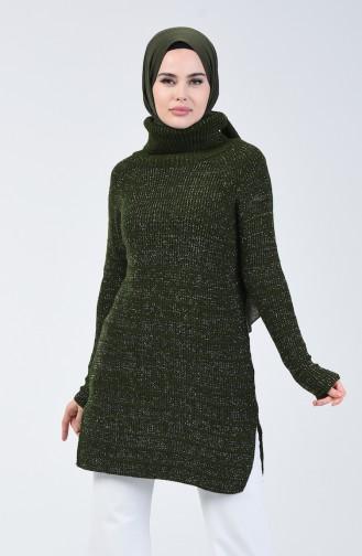 Triko Simli Kazak 5021-04 Koyu Yeşil