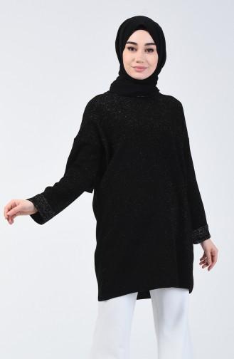 Triko Simli Kazak 4956-02 Siyah