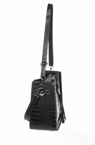 Bayan Omuz Çantası 6000K-01 Siyah 6000K-01
